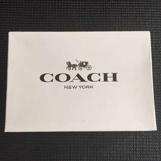 Coach Cloth/Leather Wristlet