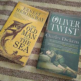 The Old Man And The Sea-Ernest Hemingway Oliver Twist-Charles Dickens