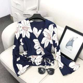 Instock Floral Top (Free Mailing)