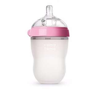 Comotomo Natural Feel Baby Bottle 8oz 250ml Pink