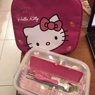Food container with Kitty insulated bag