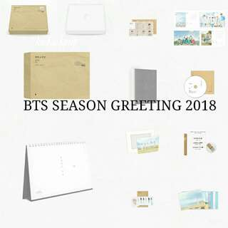 [REDUCED] BTS 2018 SEASON GREETING LOOSE ITEMS