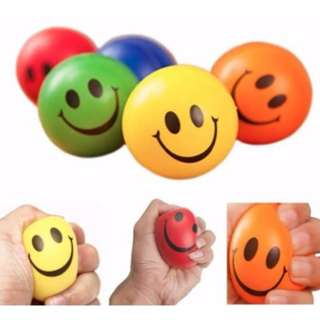 BN Smiley Face Exercise / Anti-Stress Ball (Red / Orange / Blue / Green / Yellow)