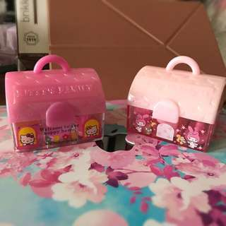 My Melody Hello Kitty Stamps Melody KT 印仔 made in Japan