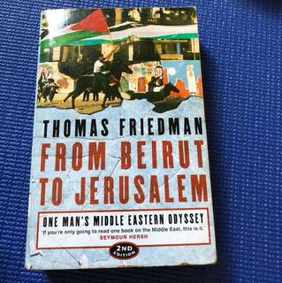 From Beirut to Jerusalem, Thomas Friedman