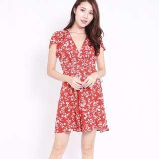 (PO) Summer Mandarin Wrap Dress