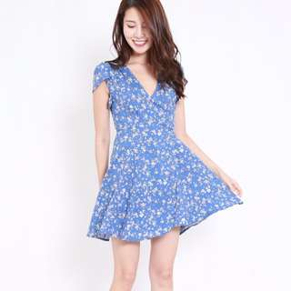 (PO) Summer Sky Wrap Dress