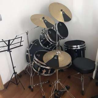 Brand new drum set with mute cover