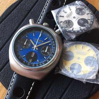 Vintage Rare 38mm Citizen Bullhead Automatic with 2 spare dials (不議)