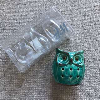 Trio mini flower vase and Owl oil burner