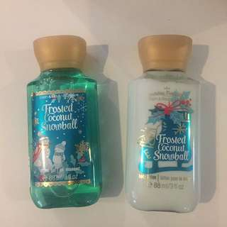 Shower Gel + Body Lotion : Frosted Coconut Snowball