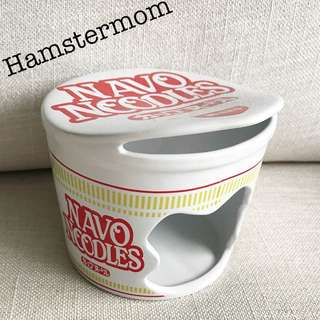 Hamster Hideout Ceramic House Toy Cup Noodle