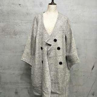 🚚 古着,寬鬆厚重長版大衣