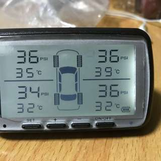 汽車外置呔壓 氣壓計 TPMS
