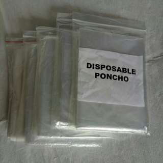 Pack of 5 Disposable Ponchos