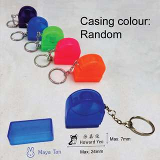 Name Stamp Keychain with Ink