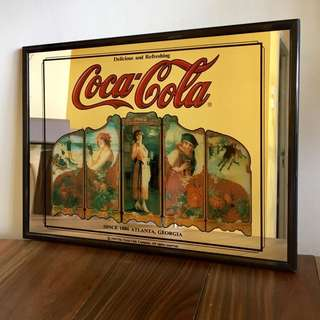 Coca-Cola 1993 Decorative Mirror all Right Reserved
