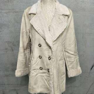 🚚 高質量仿麂皮絨毛毛外套