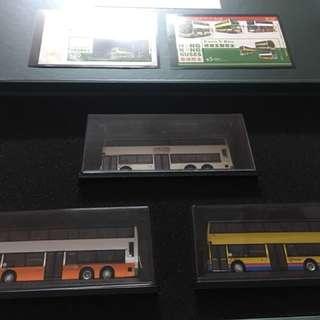 2013 年 限量版 巴士模型 3架巴士, 連 2張小全張