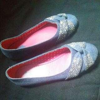 Jeans Flat Shoes