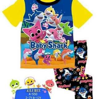 Set baby shark Saiz 2y Dan 3y