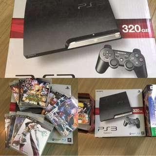 PS3主機+11片正版遊戲光碟+贈海賊王預購贈品