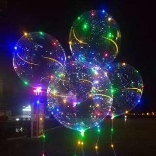Led balloon cheap transparent