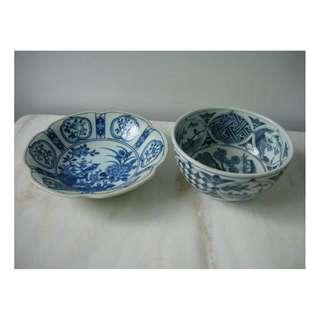 青花瓷碗碟