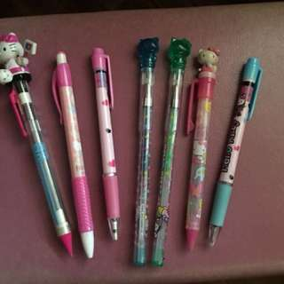 Authentic Hello Kitty pens and pencils