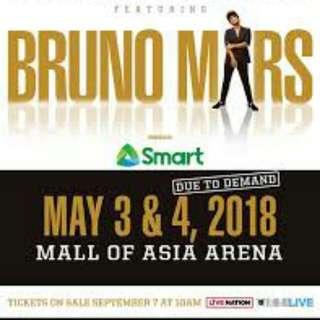 Bruno mars  concert tickets VIP 1 & 2