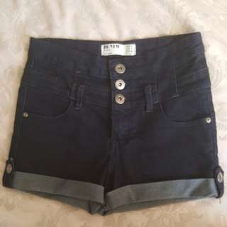 Denim Shorts high waisted size 8