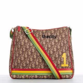 AUTHENTIC DIOR LARGE RASTA MONOGRAM , LARGE SLING MESSENGER BAG