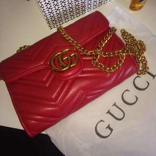 Gucci fake bag red