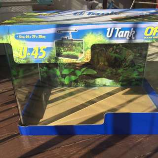 Ocean Free Curve Glass Fish Tank U45