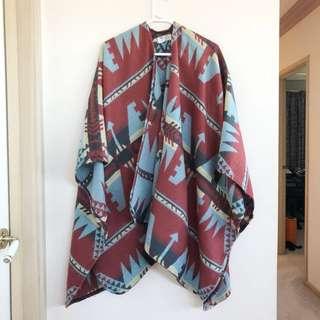 ASOS Aztec print cape One Size