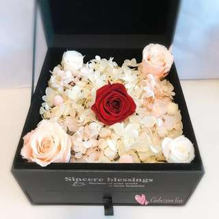 Special! Preserved Roses Flower in Jewellery Box