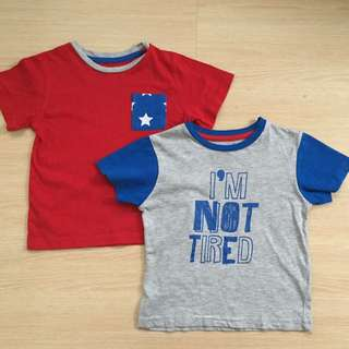 Not Tired Grey & Red Tshirt Set