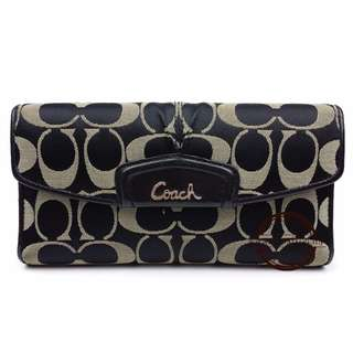 Authentic Coach Ashley Signature Sateen Checkbook Wallet F48117