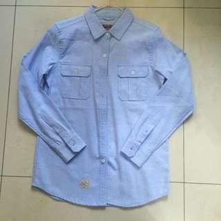 全新 CACO 長袖襯衫 牛仔襯衫