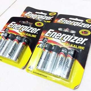 (BUY 3 FREE 1) A4 Energizer Alkaline Batteries