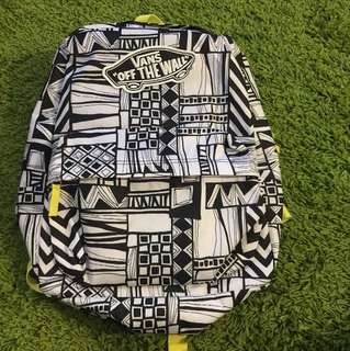 100% new Van patterned backpack