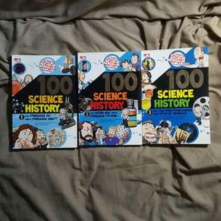 BUKU EDUKASI ANAK SET 1-3 100 SCIENCE HISTORY