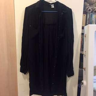 🚚 黑襯衫薄外套 罩衫