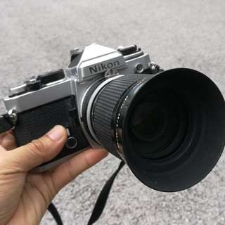 Nikon FE Silver with Zoom Lens