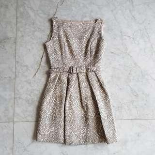 Minimal gold party dress