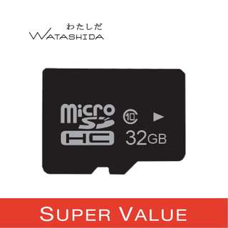 Watashida 32GB OEM Value Pack High Speed SDHC Flash Memory. Class 10 MicroSD TF Card