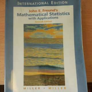 Mathematical Statistics with Applications(Freund)