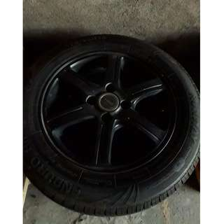 Set of bridgestone wheels and tires