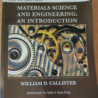 Material Science and Engineering: An Introduction(Callister)