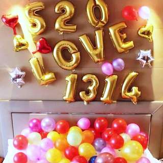 16 / 40 INCHES Gold Letters / Number Balloons Birthday decorations / wedding party supplies / 1st birthday / full month